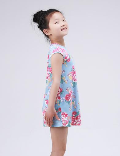针织女童睡裙
