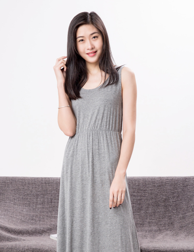 针织长款睡裙