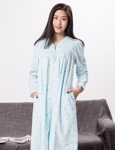 绒布欧美睡袍