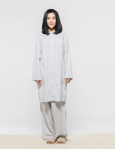 双层纱哺乳睡衣
